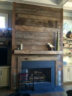Fireplace reclaimed wood