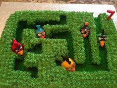 Angry Birds Maze Cake
