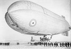 ROYAL NAVAL AIR SERVICE RNAS 1914-1918. North Sea Airship No.4 seen just before her maiden voyage.