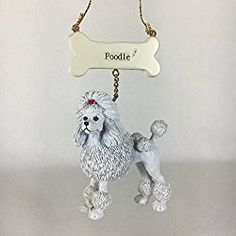 Bone and Poodle Christmas Ornament