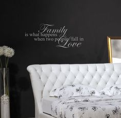 Bedroom wall decal,  Family wall decal, Marriage wall decal, Home quote decal via Etsy