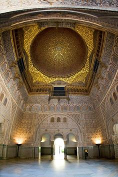 Salón de los Embajadores of the Reales Alcázares. Seville, Spain