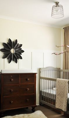 Love it! Check out the post it leads to. Inc painting closet doors w chalkboard paint! neutral nursery.