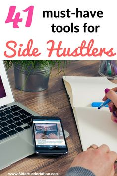 These top 41 tools for side hustlers help maximize productivity, save time, and minimize stress. Best tools to help side hustlers make more money! Which ones do you use?