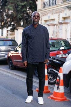 ストリートスナップパリ - Marcus Paulさん - adidas, HAIDER ACKERMANN, アディダス, ハイダーアッカーマン