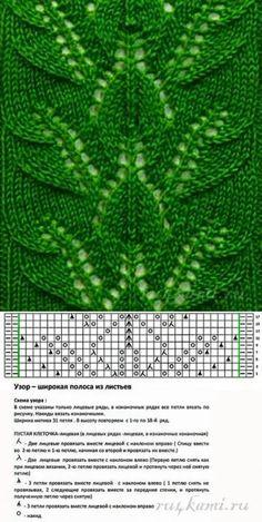 Lace Knitting Stitches, Crochet Stitches Patterns, Knitting Charts, Knitting Designs, Knitting Patterns Free, Hand Knitting, Stitch Patterns, Site Web, Cardigan Pattern