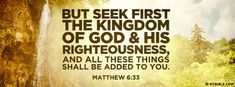 Matthew 6:33 NKJV - Seek First The Kingdom Of God - Facebook Cover Photo