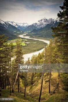 'view on natural lechvalley, tirol, austria, vintage... #elmen: 'view on natural lechvalley, tirol, austria, vintage filtered, near… #elmen