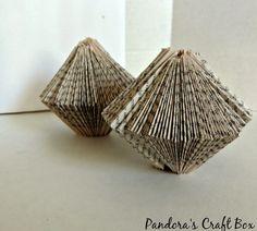 Book Folding Origami Christmas Ornament - Pandora's Craft Box