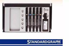 estuche de 5 estilografos standardgraph profesional