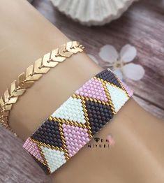 off loom beading Loom Bracelet Patterns, Bead Loom Patterns, Peyote Patterns, Jewelry Patterns, Beading Patterns, I Love Jewelry, Diy Jewelry, Beaded Jewelry, Beaded Bracelets