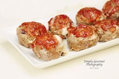 Mini Meatloaf's filled with Mozzarella Cheese
