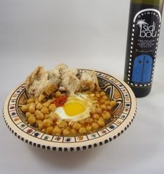 Lablabi with coddled egg.   Spicy and flavorful Tunisian Chickpea stew, healthy and delicious!