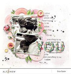 Altenew Fine Frames die with flowers on layout