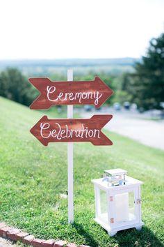 Wooden signs: http://www.stylemepretty.com/massachusetts-weddings/2014/10/22/stunning-hilltop-wedding-at-fruitlands-museum/   Photography: Samantha Melanson - http://www.samanthamelanson.com/