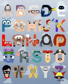 See a Pixar-Themed Alphabet -- Vulture