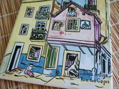Art Tile Lisboa Antiga Rua dos Cegos Lisbon Hand by GraceYourNest