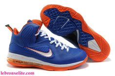 the best attitude 93f32 69601 Nike Air Foamposite Shoes Nike LeBron 9 Blue Orange White  Nike LeBron 9 -  If you love lightweight, durable and soft basketball shoes with speed and  agility ...