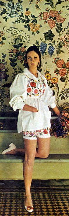 vintage fashion 1967 Shorts Suit