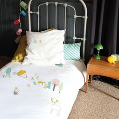 New bed linen for children at French Blossom - fun woodland scene !