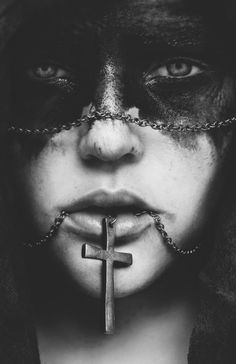 wear crosses and black paint on your face