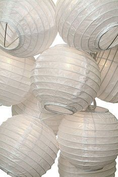 Wedding White Paper Lantern String Lights