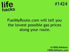 Incredibly Necessary Life Hacks To Make Your Days Much Easier will tell you the lowest possible gas prices along your route. will tell you the lowest possible gas prices along your route. The More You Know, Good To Know, Just For You, Simple Life Hacks, Useful Life Hacks, Cool Diy, Saving Tips, Saving Money, Louisiana
