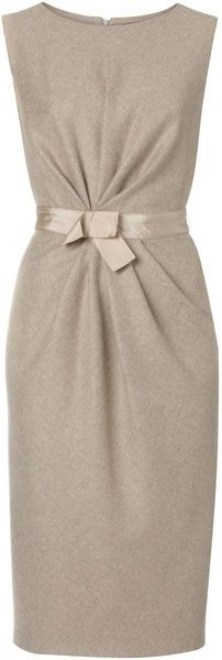 MAXMARA Sole Sleeveless Tunic Dress with Bow Waist