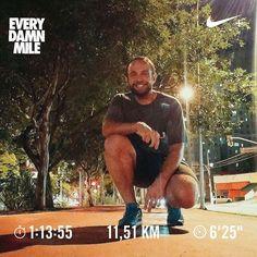 No começo desse ano eu estava totalmente fora de forma. Não conseguia correr 4km seguidos. Mas eu quis fazer diferente e fui atrás disso. Agora 23 dias consecutivos de treinos pude fazer 115km correndo sem parar e num tempo mais baixo que já fiz.  Pode parecer bobeira para algum de vocês mas cada conquista pra mim eu vibro com a intensidade de ter vencido uma batalha. Estou fazendo o meu melhor e irei muito além do que imagino que posso. Antes de ir correr eu estava receoso me deram a…