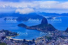 Rio de Janeiro, Brazil: Looking towards Sugar Loaf from Corcovado royalty-free stock photo