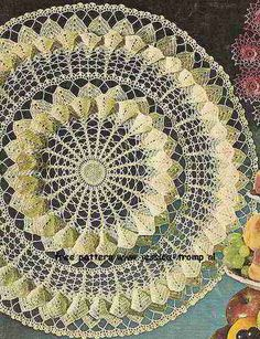 Magnolia Blossom doily free vintage crochet doilies patterns