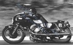 Kork Ballington racing the dynamic 1969 H1 Kawasaki 500cc 3 cyl in 1970 at Hesketh.