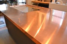 a home in the making: {renovate} copper counters, kitchen lights and more