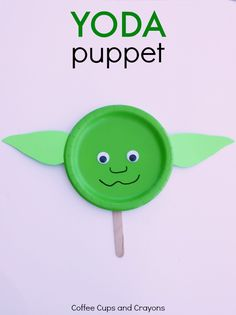 Yoda Puppet Star Wars Kids Craft!