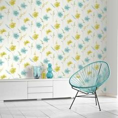 The Riviera Floral Motif range from Arthouse is a fresh and beautiful floral wallpaper. The watercolour design uses soft and calming tones of the teal and lime flowers, perfect for creating a light and airy home interior reminiscent of summer days. Transform your favourite room with this wallcovering for just £9.99 per 10m roll from The Range.