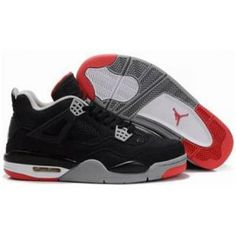 reputable site 42444 d6e84 Buy Discount Air Jordan Retro 4 Black Cement Grey Fire Red from Reliable  Discount Air Jordan Retro 4 Black Cement Grey Fire Red suppliers.