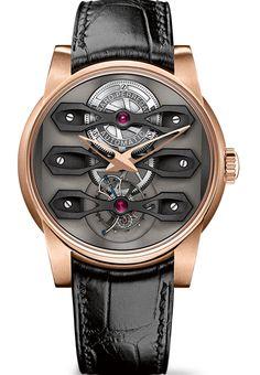 Girard-Perregaux Neo-Tourbillion sous Trois Ponts. Une des plus belles montres de 2014 et une merveille en matière de conception.