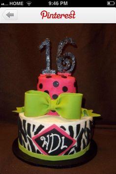 My dream sweet 16 birthday cake