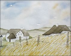 Am Kliffende auf Sylt - Aquarell - 24 x 32 cm - Original