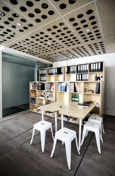 Particular Architects design and built a reconfigurable office for themselves
