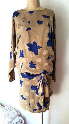 Saint Romei Dress Size Medium Floral Drop by JadeDesignVintage