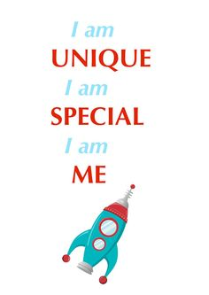 Classroom affirmations positive daily student declarations a variety rocket ship kids affirmation i am unique for by lalaladesigns 1200 altavistaventures Gallery