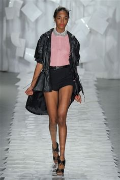 Love the high-waisted formal hot pants