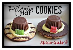 Thanksgiving is right around the corner. Check out and try these adorable pilgrim hat cookies. The kids will love this!