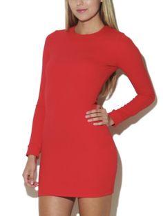 Arden B. Women's High Neck Textured Knit Dress S Chinese Red