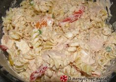 Δροσερή μακαρονοσαλάτα recipe main photo Sweets Recipes, Pasta Recipes, Chicken Recipes, Cooking Recipes, Finger Food Appetizers, Appetizer Recipes, Food Network Recipes, Food Processor Recipes, The Kitchen Food Network