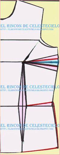 Patrón básico delantero de blusa a medida o anatómico - El Rincon De Celestecielo