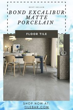 Inspired by the interior of the machines inside a tile factory, the Bond Excalibur Porcelain Tile stuns with its contemporary industrial chic appeal. The dramatic movement of wavy texture and color shading across this 12x24 concrete look tile dazzles.