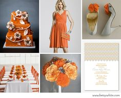 A Lovely Orange Bridal Shower