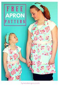 Matching Mom and Child Free Apron Pattern